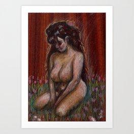 Eve in Garden Art Print