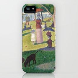 """Un dimanche après-midi à l'île de la Grande Jatte """"A Sunday on La Grande Jatte"""" Georges Seurat, 1886 iPhone Case"""