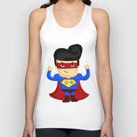 superhero Tank Tops featuring Superhero by comodo777