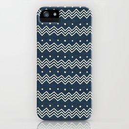 MUD CLOTH DENIM 1 iPhone Case