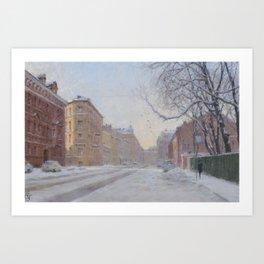 FROZEN CITY Art Print