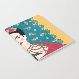 Frida Viva Cushion Yellow Notebook