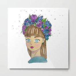 Crown of flowers Metal Print