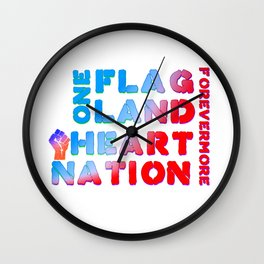 4th of July Quote Wall Clock