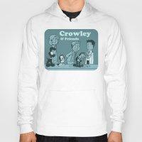 crowley Hoodies featuring Crowley & Friends - Supernatural by Justyna Rerak