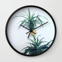 Pineapple Plant Wall Clock