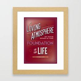 A loving atmosphere Framed Art Print