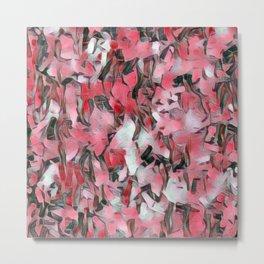 Confetti Pink Salmon Metal Print
