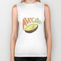 avocado Biker Tanks featuring Avocado by Ken Coleman