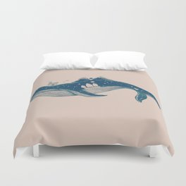 Home (A Whale from Home) Duvet Cover