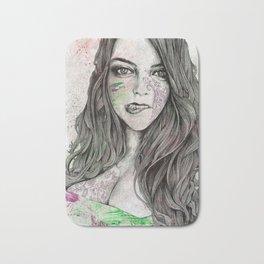U-Turn (busty girl with mandala tattoos) Bath Mat