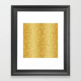 Celtic Warlord gold Framed Art Print