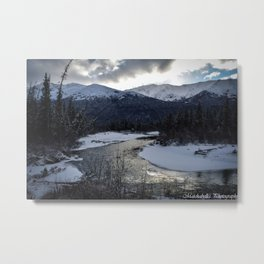 A Frozen River runs through it. Metal Print