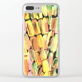 Golden Sweet Yellow Sugarcane Clear iPhone Case