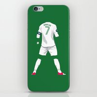 ronaldo iPhone & iPod Skins featuring Ronaldo 7 by Crewe Illustrations