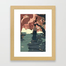 Tell a Dragon Colorful Stories part 2 Framed Art Print