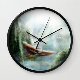 Flight through the Mountains Wall Clock