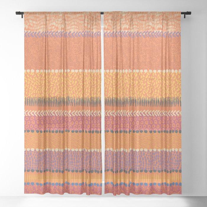 Ink Brush Sheer Curtain