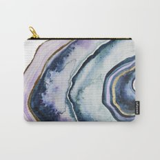 Purple Agate Watercolor Carry-All Pouch
