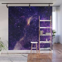 Ultra violet purple abstract galaxy Wall Mural