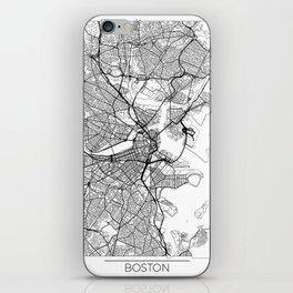 Boston Map White iPhone Skin