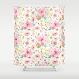 All the Peonies Shower Curtain