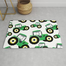 Tractor Truck Farm Equipment Rug