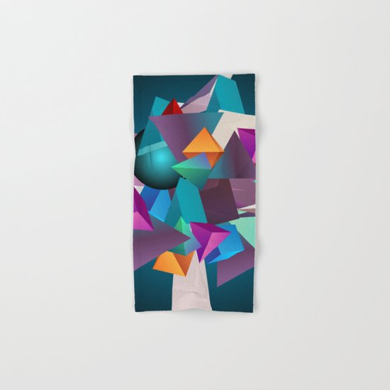3D Geometric Hand & Bath Towel