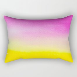 Abstract painting in modern fresh colors Rectangular Pillow