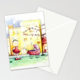 Let puppy ride Stationery Cards