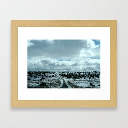 16 Miles of Dirt Road Framed Art Print