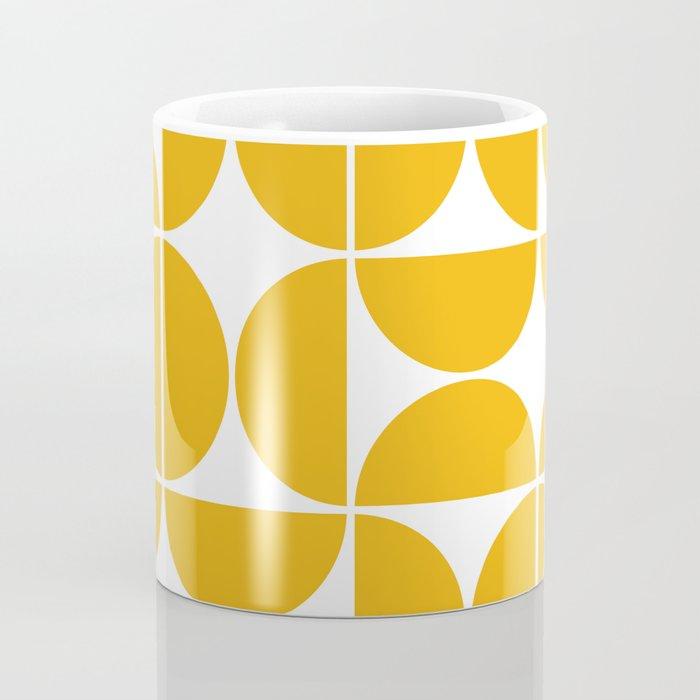Mid Century Modern Geometric 04 Yellow Coffee Mug