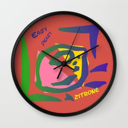 Esay Zitrone Wall Clock