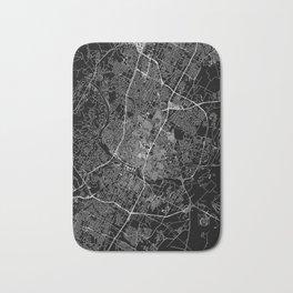 Austin Black Map Bath Mat