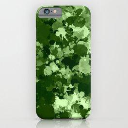 Green Paint Splatter Camo  iPhone Case
