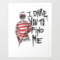 waldo Art Prints featuring Waldo by Carrie Anne Hudson