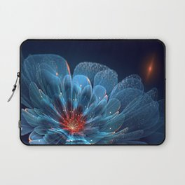 3D Blue Flower V2 Laptop Sleeve