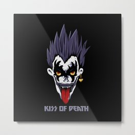 Kiss of Death Metal Print