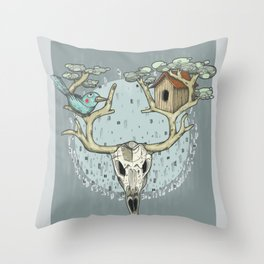 COLORtemple Throw Pillow