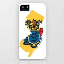 New Jersy Map with State Flag iPhone Case
