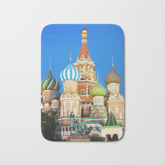 Colorful Moscow church Bath Mat