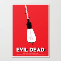 evil dead Canvas Prints featuring Evil Dead by Let's Kiss To Make It Real