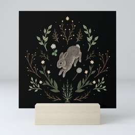 Hoppy Botanical Bunny Mini Art Print