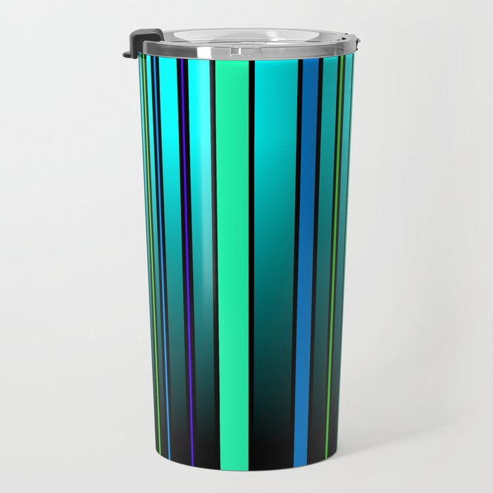 Fresh Blue Travel Mug