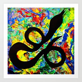 Mushy Snake Vibes Art Print