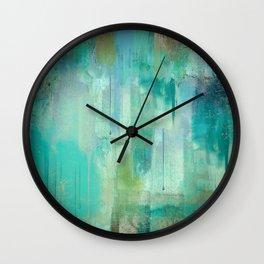 Aqua Circumstance Wall Clock