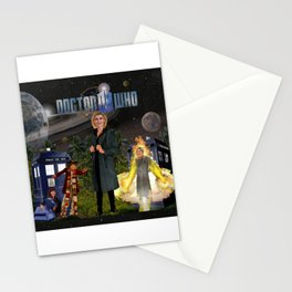 1th Doctor, 4th Doctor, Sarah Jane, K-9 Stationery Cards