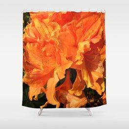 Orange Azaleas Shower Curtain