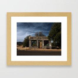 Abandoned Post Office in Kelso California Framed Art Print