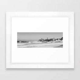 Wavy San Diego Beach Panorama Framed Art Print
